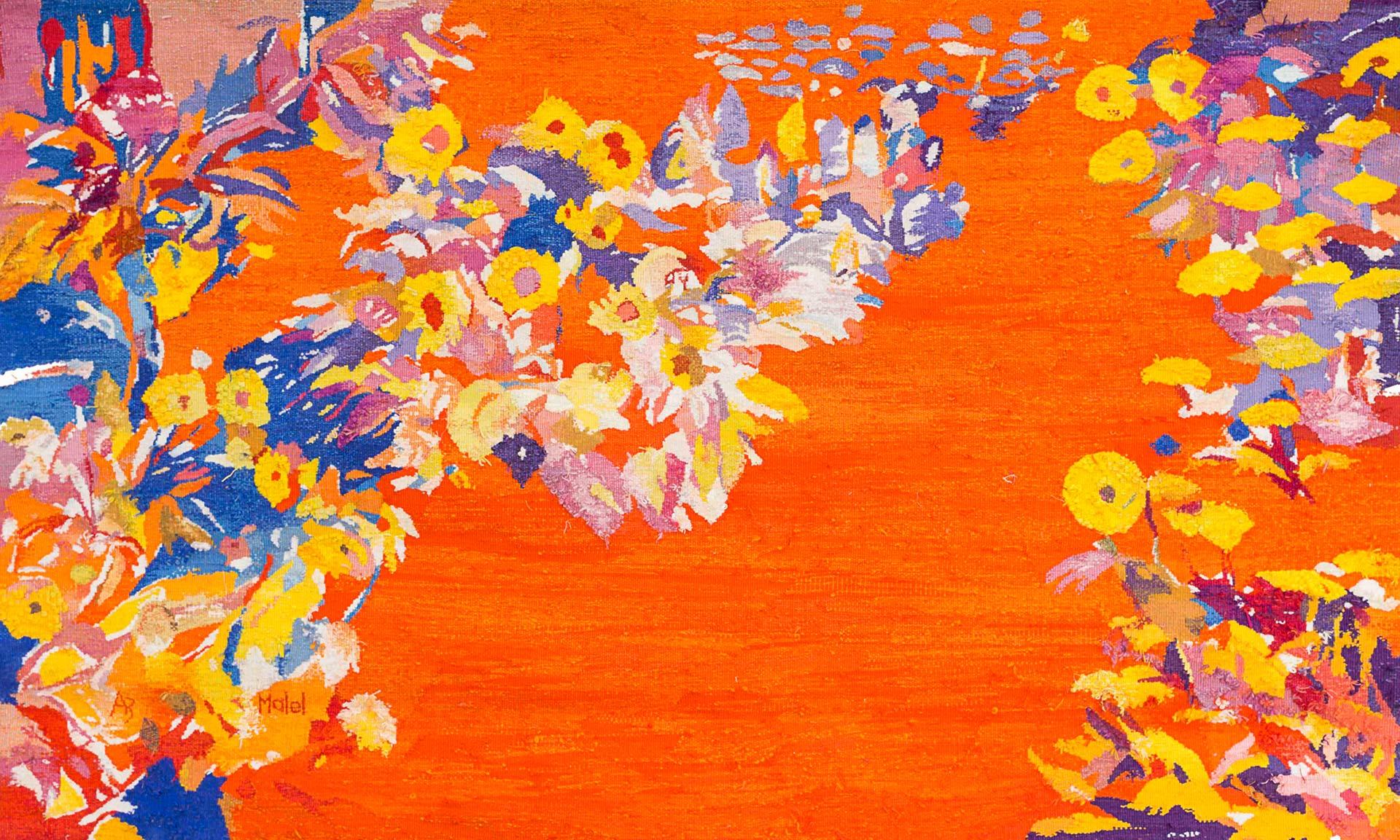 Les fleurs oranges