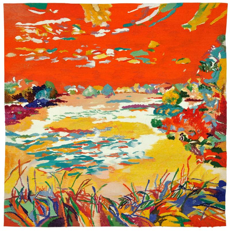 L'étang orange